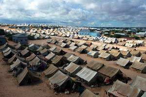Ein Flüchtlinglager in Somalia    Bild: © Sadikgulec - Dreamstime.com