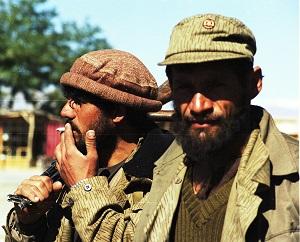 Porträt von zwei Taliban