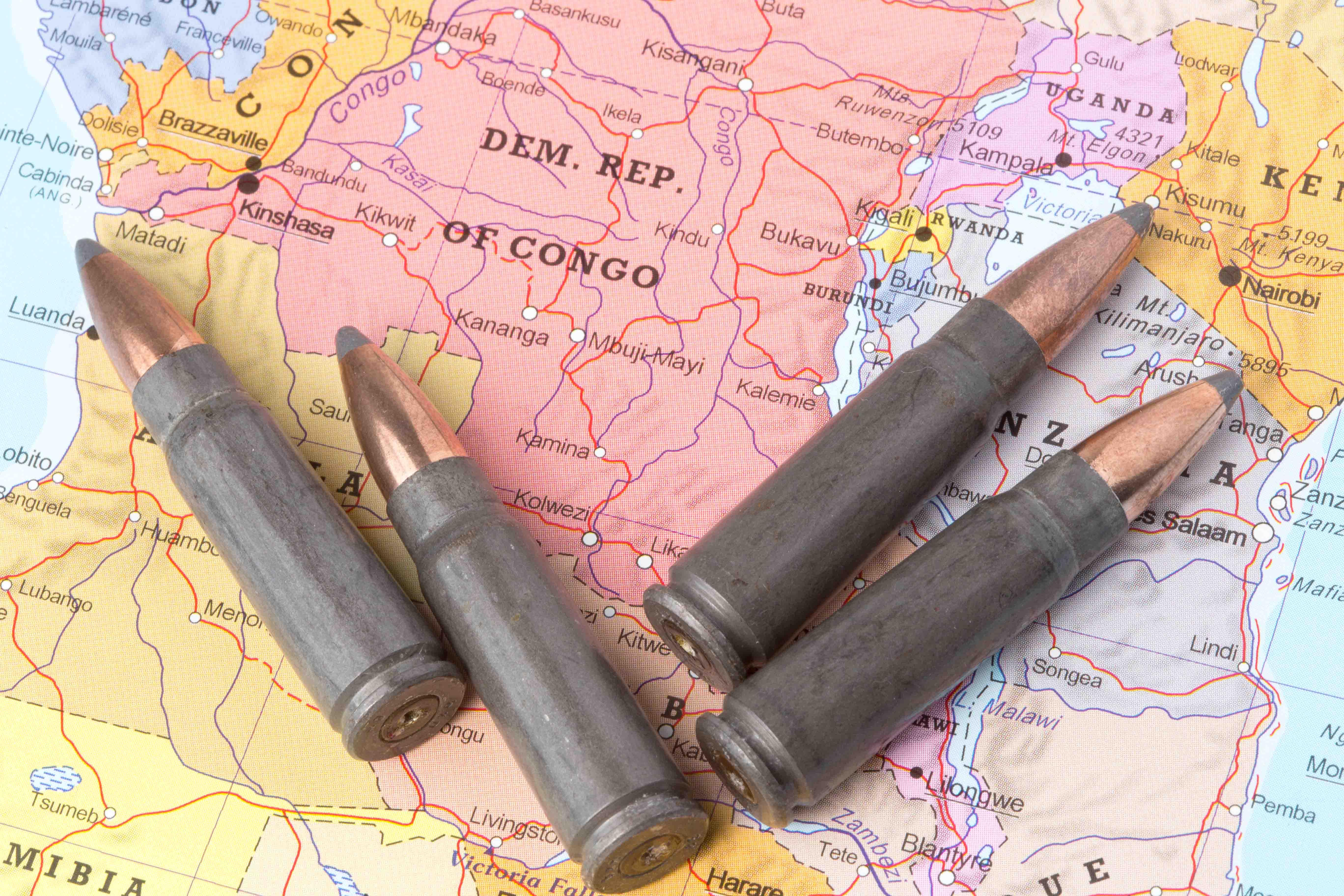 Konflikt und Gewalt im Kongo.