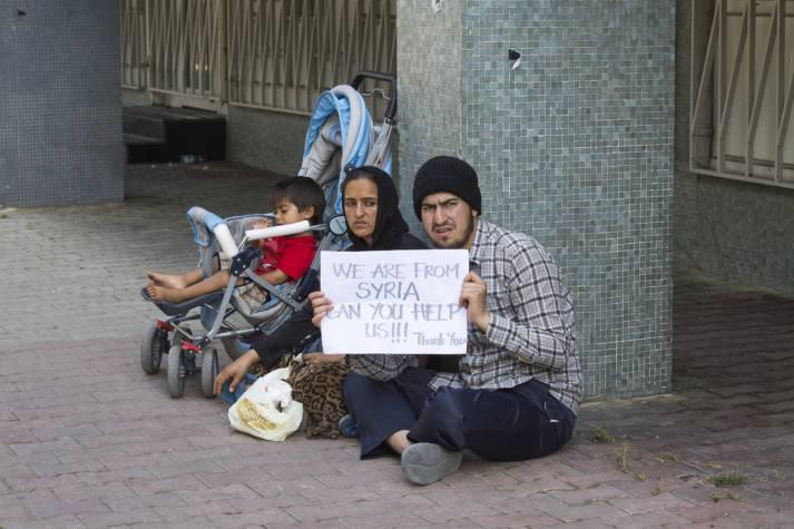 Syrische Flüchtlinge in der Türkei bitten um Hilfe. Syrische Flüchtlinge bitten um Hilfe. |  Bild: © Olegd - Dreamstime.com