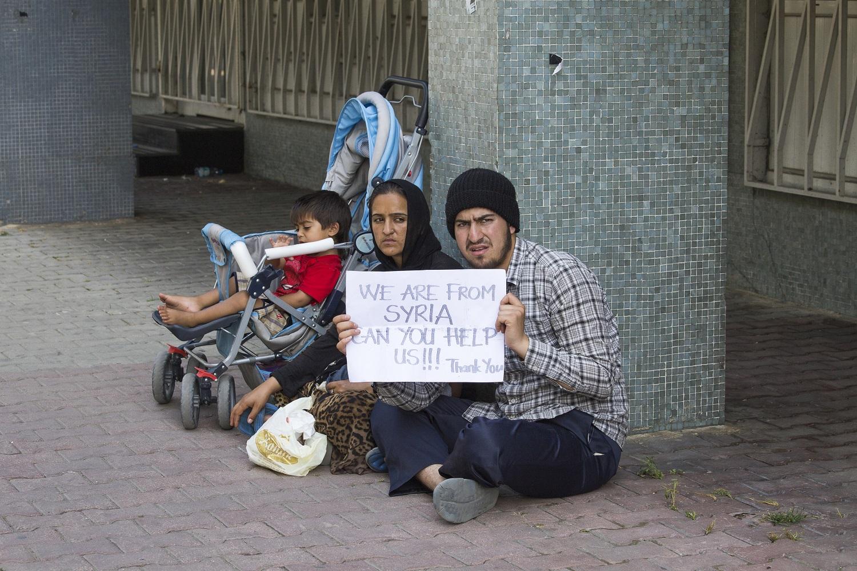 Syrische Flüchtlinge in der Türkei bitten um Hilfe.