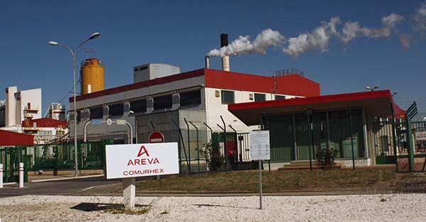 Fabriktor Areva Comurhex bei Malvési