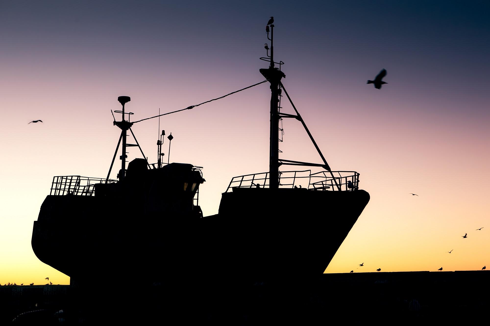 Megatrawler vor den Küsten Marokkos