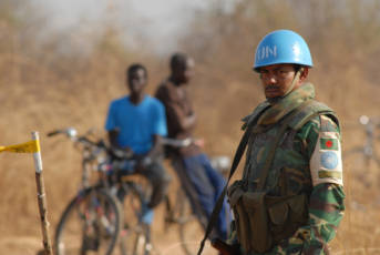 UN Soldat Afrika