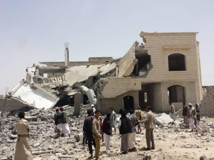 Ein zerbombtes Haus in Jemens Hauptstadt Sanaa. Ein zerbombtes Haus in Jemens Hauptstadt Sanaa. |  Bild: © Ibrahem Qasim - Wikimedia Commons