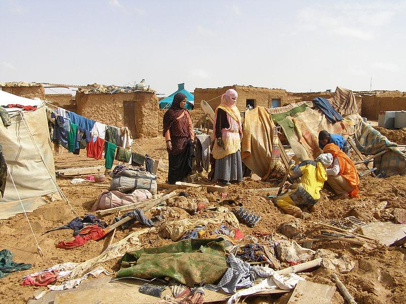 Ein Flüchtlingscamp für Sahrauis in Algerien.