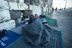 Flüchtling in Griechenland