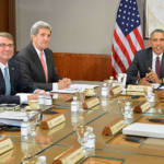 Barack Obama John Kerry Besprechung des Nationales Sicherheitsrates zur Lage in Syrien | Bild (Ausschnitt): © U.S. Department of State [Public domain] - Wikimedia Commons