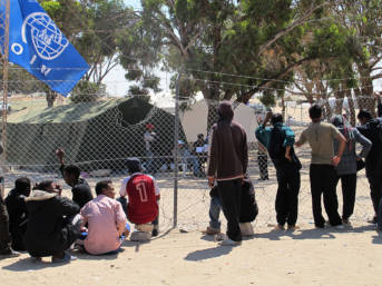 Shousha refugee camp, at the Libyan border (Tunisian side). April 2011.   Bild: © Guerric [CC BY-NC-ND 2.0]  - flickr