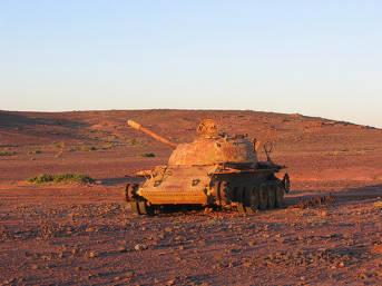 Marokkanischer Panzer in Westsahara | Bild: ©  Nick Brooks [CC BY-NC-ND 2.0]  - Flickr