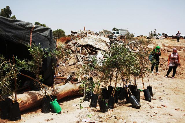 Zerstörte beduinische Siedlung