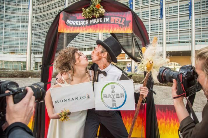 Fusion Bayer Monsanto Mögliche Fusion von Bayer und Monsanto |  Bild: © Friends of the Earth Europe - Flickr