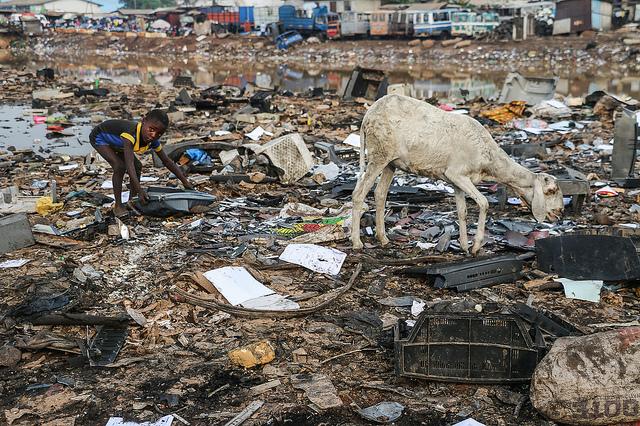 Elektroschrotthalde in Afrika