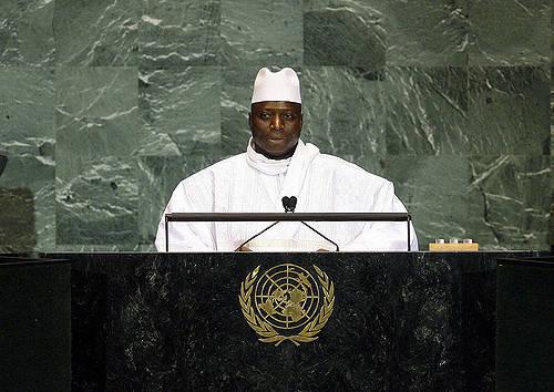 Gambias ehemaliger Diktator ruinierte die Wirtschaft Gambias Ex-Präsident  Yahya Jammeh trägt Schuld an der hohen Emigrationsrate     Bild: © United Nations Photo [CC BY-NC-ND 2.0]  - Flickr