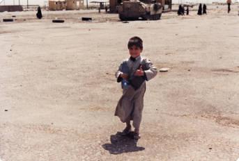 Irakischer Junge in Safwan