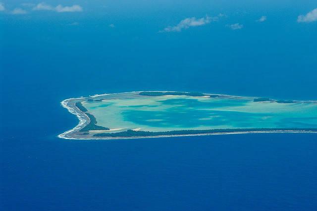 Tuvalu Der kleine Inselstaat Tuvalu ist vom Untergang bedroht.    Bild: © Tomoaki INABA [CC BY-SA 2.0]  - Flickr