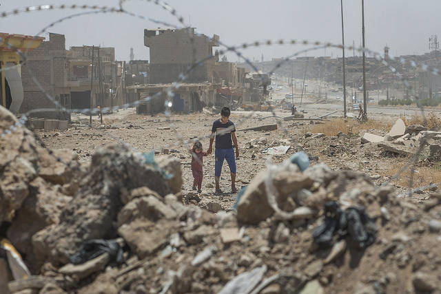 Syrien Mossul Die Stadt Mossul wurde während der Kämpfe schwer beschädigt. | Bild: © European Commission DG ECHO [CC BY-NC-ND 2.0]  - Flickr