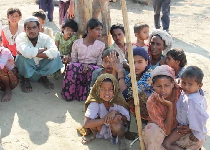 Rohingya-Flüchtlinge Vertriebene Rohingya aus Rakhaing. |  Bild: © Foreign and Commonwealth Office [OGL]  - Wikimedia Commons