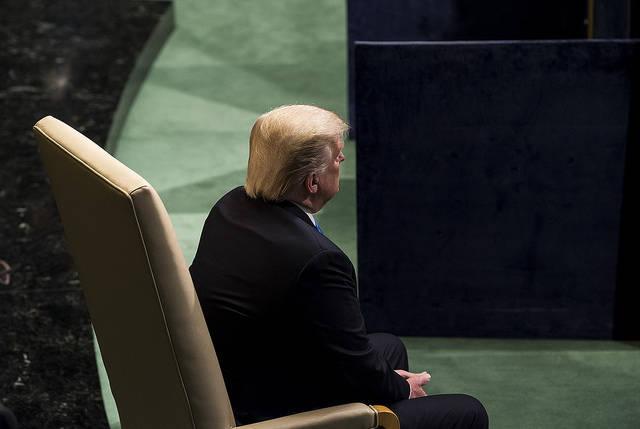 Trump UNO US-Präsident Trump bei der UN-Generalversammlung. Dreht er den Vereinten Nationen bald den Rücken zu?    Bild: © United Nations Photo [CC BY-NC-ND 2.0]  - Flickr