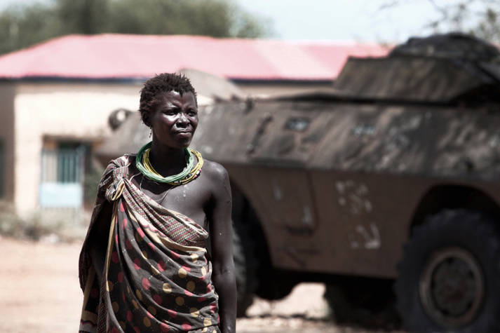 Im Schatten des Krieges Seit seinem Ausbruch im Dezember 2013 hat der Bürgerkrieg im jüngsten Land der Welt bereits mehr als 50 000 Tote gefordert.  | Bild: ©  Steve Evans [CC BY-NC 2.0]  - Flickr