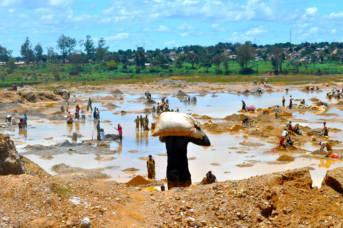Kupfer waschen DR Kongo