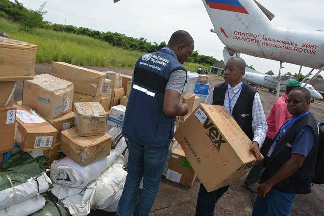 Verteilung von Hilfsgütern im Kongo Da das Ebola-Virus erstmalig in der Konflikt-Region Nord-Kivu auftritt, werden es internationale Organisationen schwer haben, die Bevölkerung ausreichend mit Hilfslieferungen zu versorgen |  Bild: © MONUSCO [CC BY-SA 2.0]  - flickr