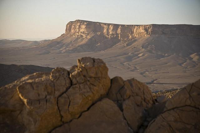 Trockene Landschaft in Syrien