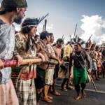 Indigene demonstrieren Menschen aus über 200 indigenen Gemeinschaften versammeln sich in Brasília, um für die Rechte der indigenen Beölkerung einzustehen. | Bild (Ausschnitt): © Apib Comunicação [CC BY-SA 2.0] - Flickr