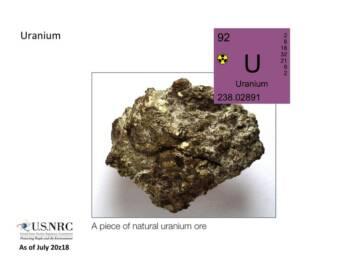 Natürliches Uran Natürliches Uran |  Bild: © Nuclear Regulatory Commission [CC BY 2.0]  - Wikimedia Commons