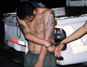 Ein Mitglied der Mara Salvatrucha wird verhaftet Ein Mitglied der Mara Salvatrucha wird verhaftet |  Bild: © FBI [Puplic Domain]  - Wikimedia