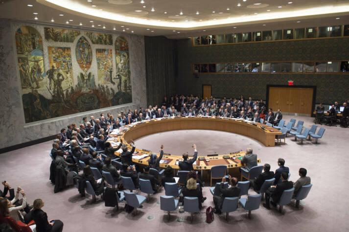 Der UN-Sicherheitsrat bei einer Abstimmung Der UN-Sicherheitsrat bei einer Abstimmung    Bild: © United Nations Photo [CC BY-NC-ND 2.0]  - Flickr