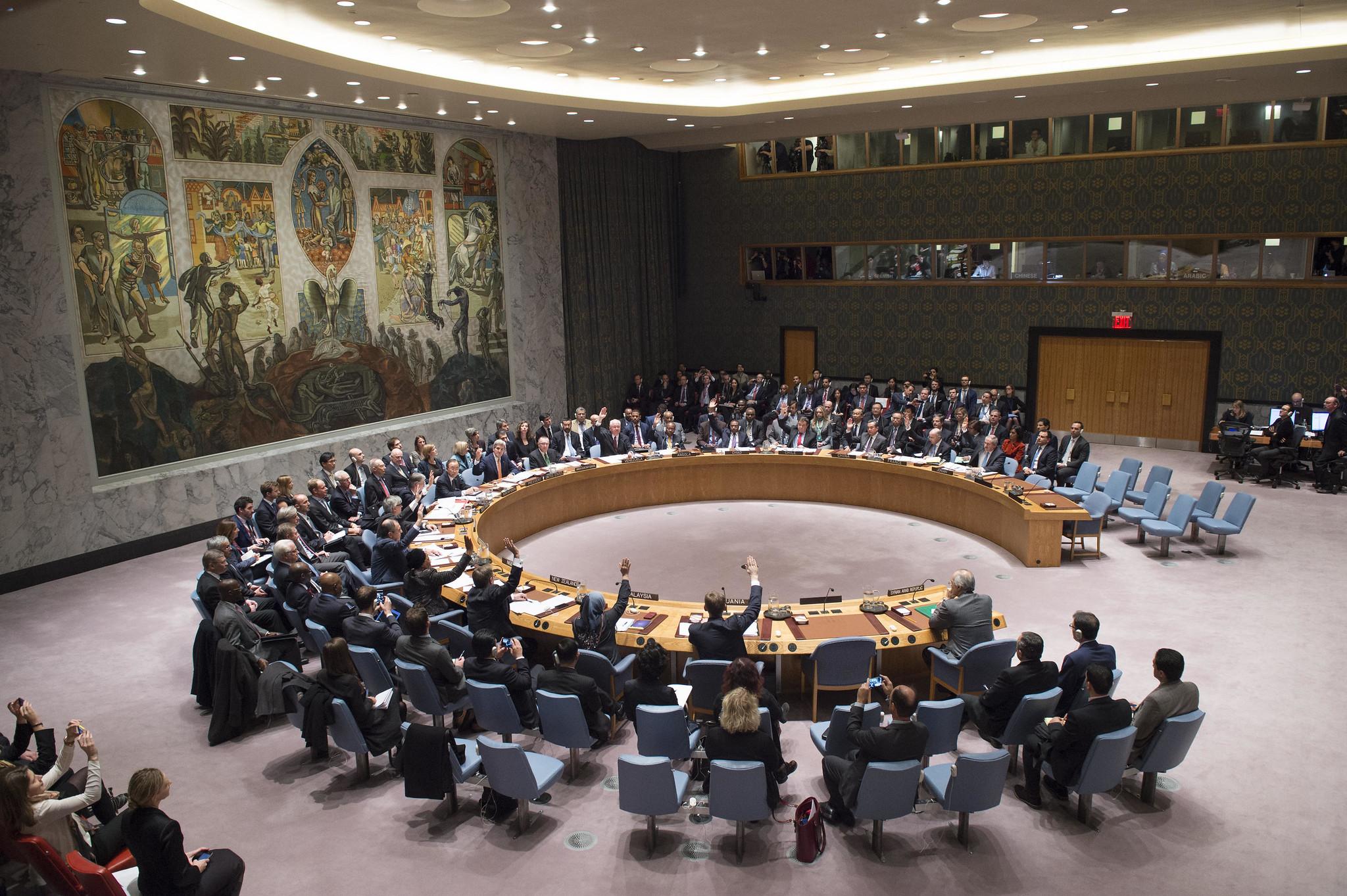 Der UN-Sicherheitsrat bei einer Abstimmung
