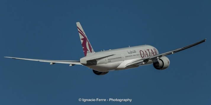 Im Rahmen des Katar-Boykotts wurden Qatar Airways die Überflugrechte über saudischem und emiratischem Territorium entzogen Im Rahmen des Katar-Boykotts wurden Qatar Airways die Überflugrechte über saudischem und emiratischem Territorium entzogen |  Bild: © Ignacio Ferre Pérrez [CC BY-NC-ND 2.0]  - Flickr