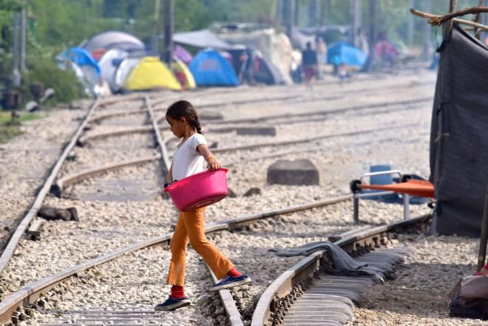 Flüchtlingslager Idomeni: Zeitweise lebten hier 13.000 Asylsuchende unter katastrophalen Bedingungen.     Bild: © Mario Fornasari  [ (CC BY 2.0)]  - flickr