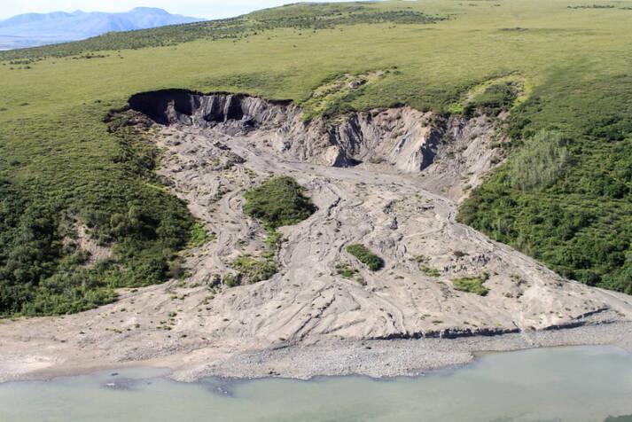 In Alaska löste das Auftauen des Permafrostes eine Bodenerosion aus |  Bild: © NPS Climate Change Response [CC BY 2.0]  - Flickr