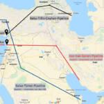 Pipeline Syrien Für Europa wichtige Pipelines im nahen Osten | Bild (Ausschnitt): © Google - Google Maps