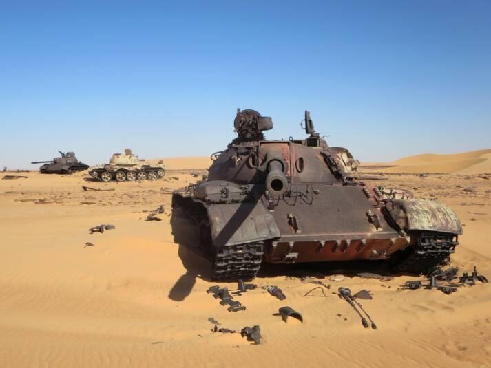 Panzer Libyen Libysche Panzer in der Wüste |  Bild: © David Stanley [CC BY 2.0]  - Flickr