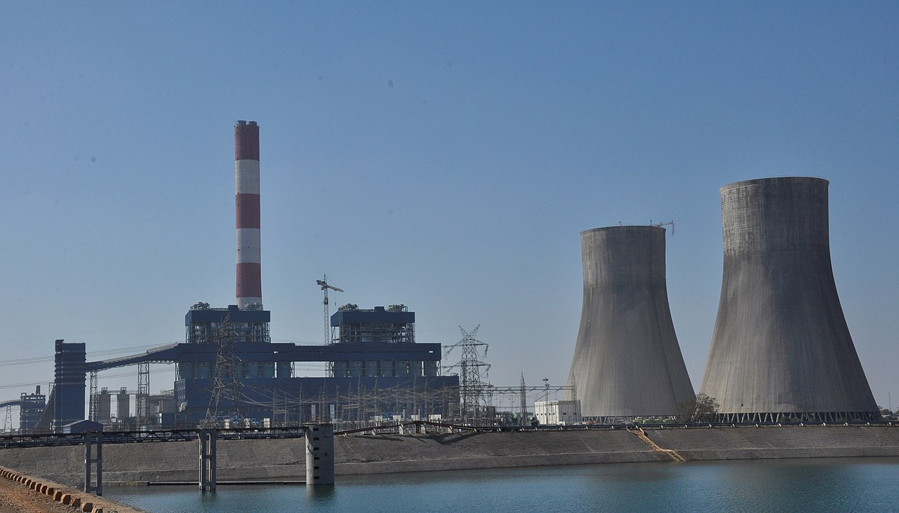 Kohlekraftwerk in Chhattisgarh, Indien.