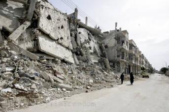 Zerstörte Stadt Syrien