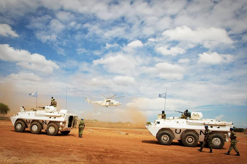 UN-Truppen im Sudan.