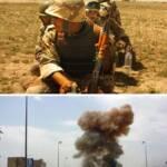 Soldaten und Explosion im Irakkrieg Krieg fordert nicht nur Menschenleben, sondern zerstört auch die Umwelt | Bild (Ausschnitt): © U.S. Government [Public Domain] - Wikimedia Commons