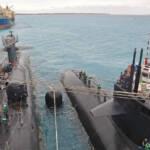 Amerikanische Kampf-U-Boote legen an der Chagos-Insel Diego Garcia an. | Bild (Ausschnitt): © U.S. Pacific Fleet [CC BY-NC 2.0] - flickr