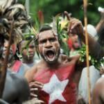 Protest für die Unabhängigkeit Wespapuas | Bild (Ausschnitt): © Free West Papua Campaign [Mit freundlicher Genehmigung] -