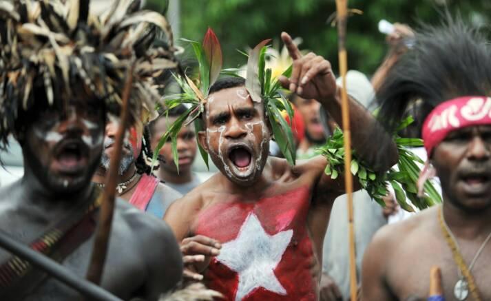 Protest für die Unabhängigkeit Wespapuas |  Bild: © Free West Papua Campaign [Mit freundlicher Genehmigung]  -