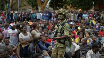 Simbabwe Proteste Menge