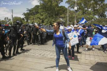 Nicaragua Proteste Polizei