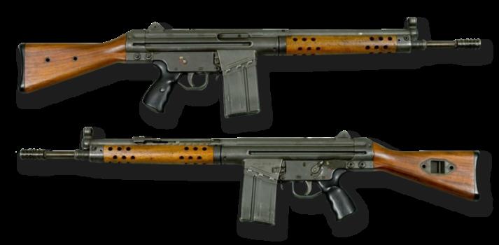 G3-Schnellfeuergewehr Mit Ausnahme der russischen Kalaschnikow ist das G3 das am weitesten verbreitete Gewehr auf der Welt. |  Bild: © Armémuseum [CC BY-SA 4.0]  - Wikimedia Commons