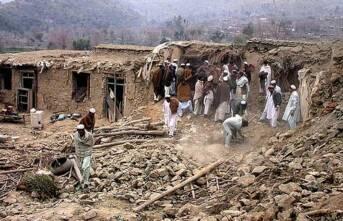 Ein zerbombtes Haus in Afghanistan