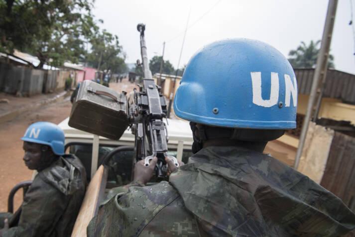 UN-Soldaten Die Bevölkerung der zentralafrikanischen Republik leidet unter den brutalen Konflikten rund um die Präsidentschaftswahl |  Bild: © United Nations Photo [CC BY-NC-ND 2.0]  - flickr