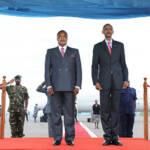 Denis Sassou-Nguesso - präsident der Republik Kongo Denis Sassou-Nguesso (links im Bild) stand bei den Präsidentschaftswahlen wieder zur Wahl | Bild (Ausschnitt): © Paul Kagame [CC BY-NC-ND 2.0] - Flickr